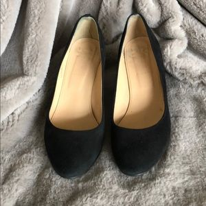 J.Crew Black Suede wedges - size 8 1/2